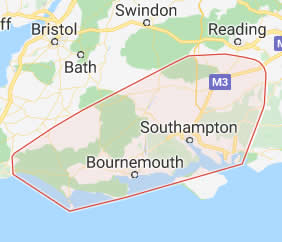 map of Bournemouth showing area covered